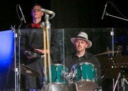 0345 - Andrea Simoncello e Nicolas Tomasin percussionisti accompagnatori dei gruppi corali
