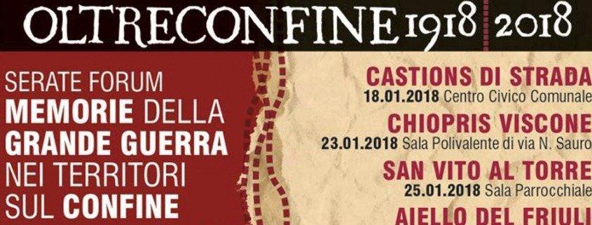 Oltreconfine 1918-2018 – Memorie della Grande Guerra nei territori sul confine italo-austriaco